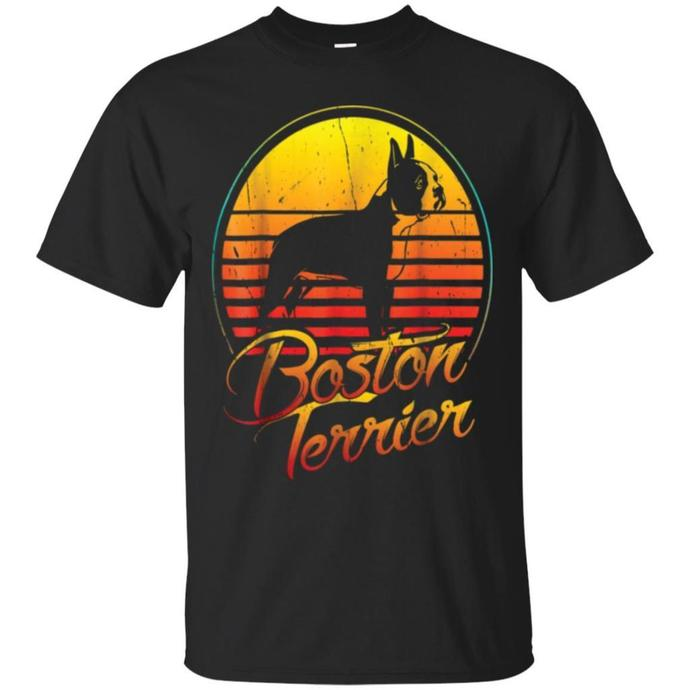 Boston Terrier Vintage Retro Classic Men T-shirt