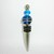 Wine Stopper with Aqua Blue Beads
