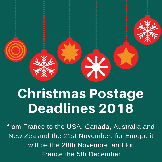 2018 Christmas Shipping Deadlines