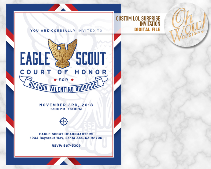 Eagle Scout Court Of Honor Invitation Digital File