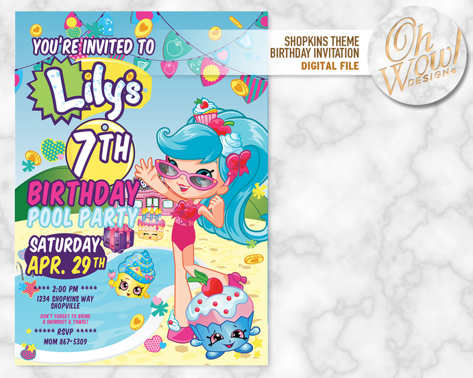 shopkins birthday invitation and 72 shopkins birthday invitations online free