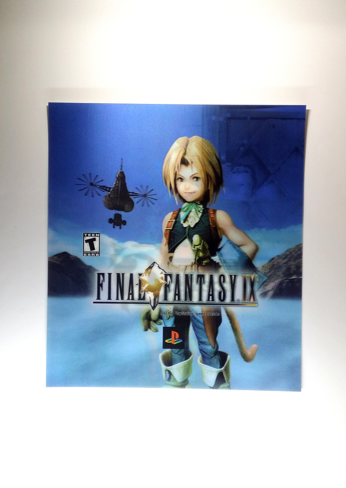 Final Fantasy 9 x The Bouncer Motion Lenticular Promo Card - Sony PlayStation