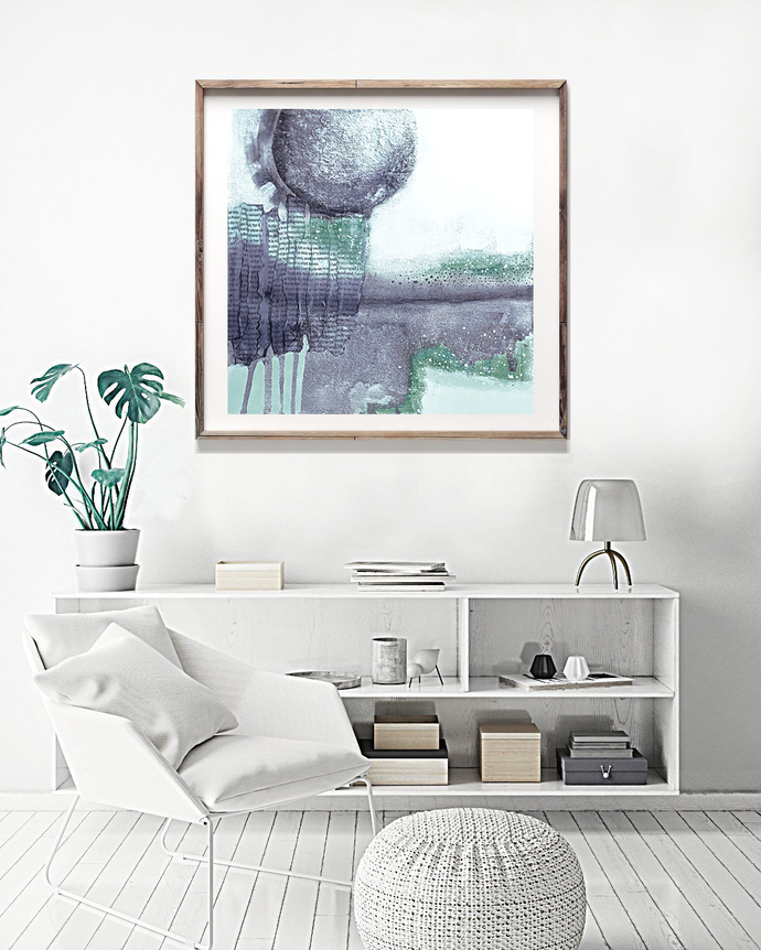 Printable abstract, contemporary art, print from original painting, 12x12,