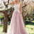 Cheap Pink Vintage Prom Dresses Plus Size Lace Applique Modest Prom Dresses