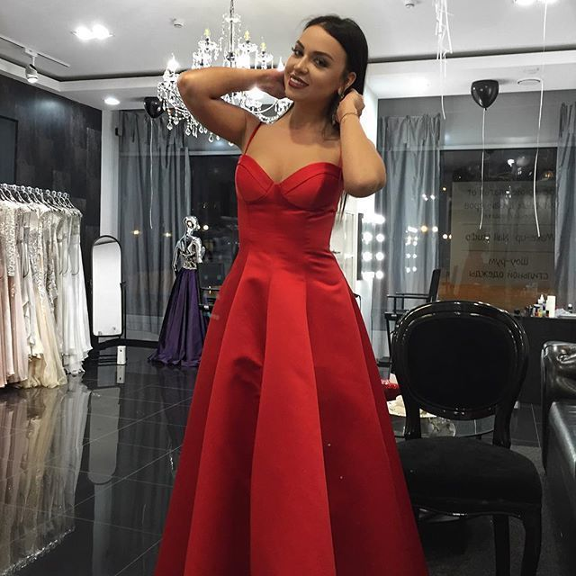 efbc58bfc44 Sexy Spaghetti Straps Red Prom by prom dresses on Zibbet