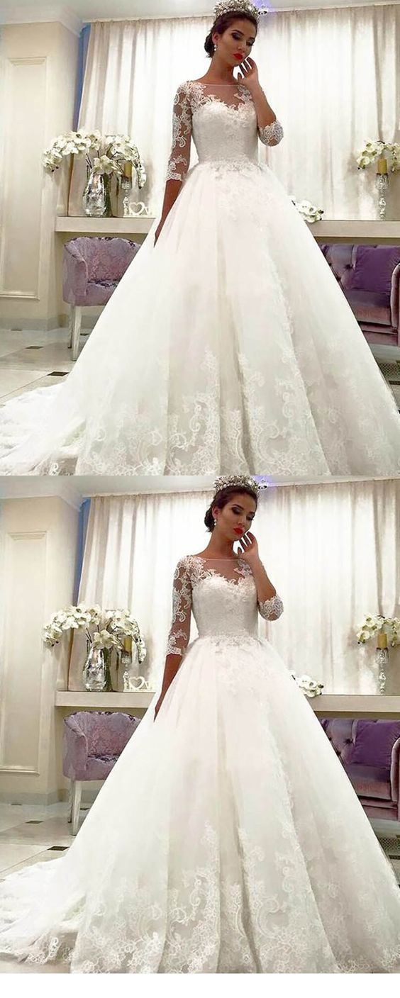 Lace Bridal Dresses With Long Sleeves Princess Wedding Gown: Princess Wedding Dresses With Straps At Reisefeber.org