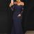 Brush Trumpet Brush Train Off Shoulder Long Sleeve Lace Bridesmaid Dress,