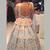 Blue Ball Gown Floor Length V Neck Sleeveless Open Back Floral Long Prom
