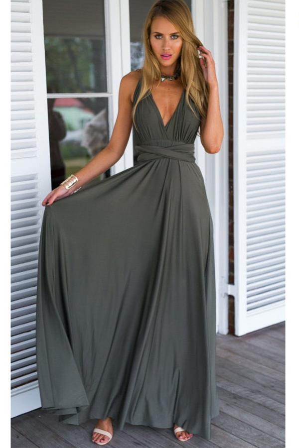 Soft A line Floor Length Sleeveless Open Back Prom Dress,Formal Dress