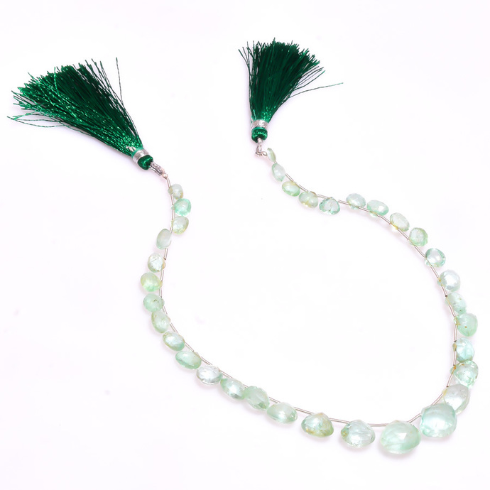 ATTRACTIVE !! Natural Emerald Faceted Heart Shaped Precious Loose Gemstone Bead