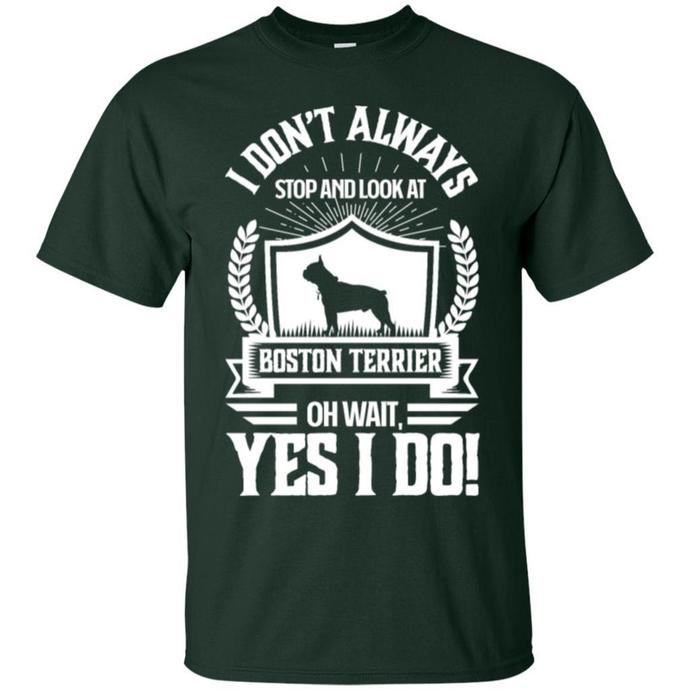 I Don't Always Stop and Look At Boston Terrier Men T-shirt
