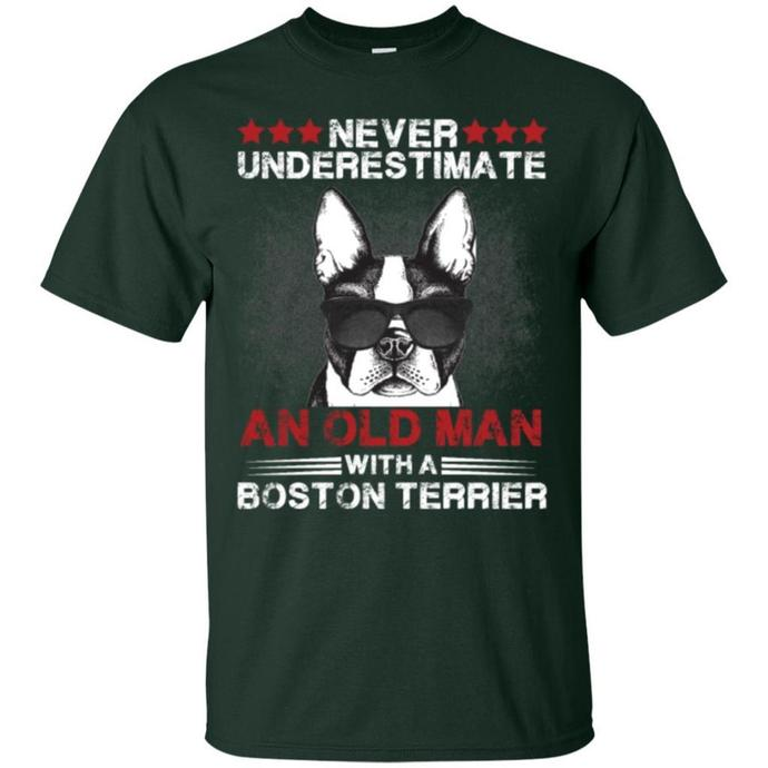 Never Underestimate An Old Man With A Boston Terri Men T-shirt