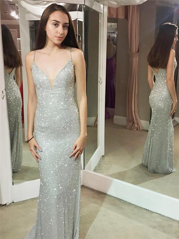 Mermaid Formal Dresses Long,Sparkly Sequins prom dresses, long prom dress,