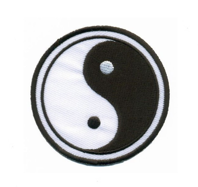 Yin Yang ying tao Patch Embroidered Iron on Patches Clothes Appliques Sew Crafts