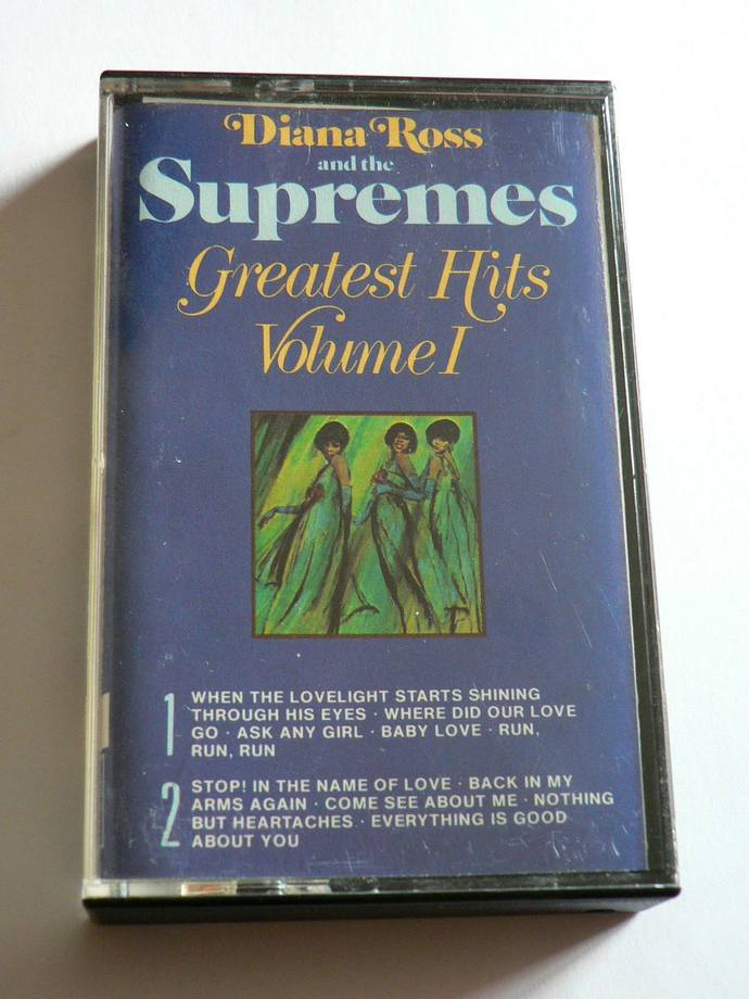 Diana Ross & The Supremes Greatest Hits Volume 1 Cassette Tape