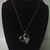 #083 Black Gold Necklace with Heart Shaped Locket