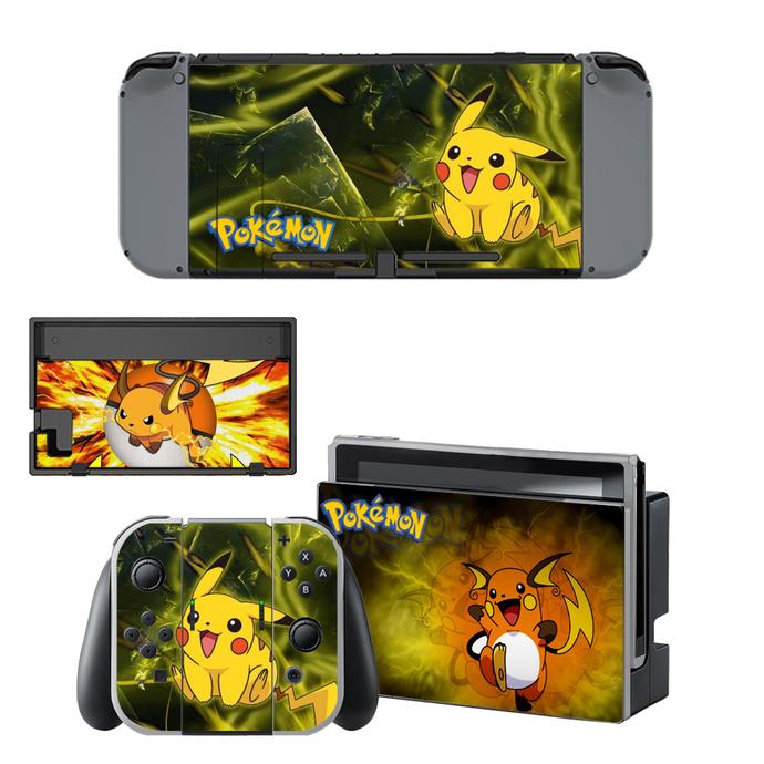 Pokemon go pikachu Nintendo switch skin for Nintendo switch console