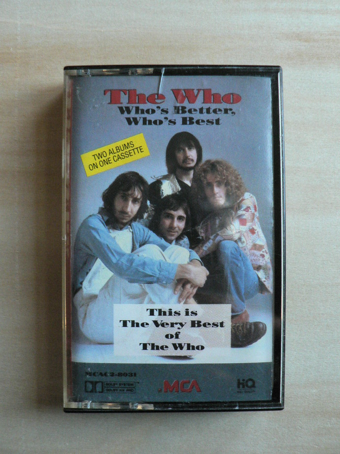 The Who Who's Better Who's Best Cassette Tape