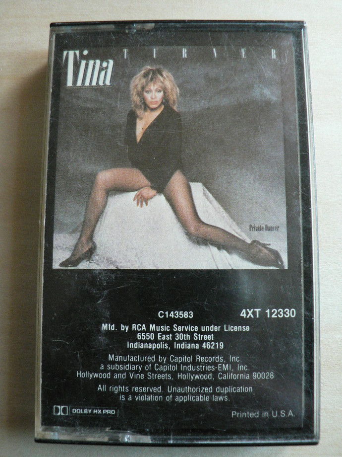 Tina Turner Private Dancer Cassette Tape