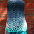 Fabulous ombre' ocean blues crochet poncho, fun, handmade, teal, turquoise, grey