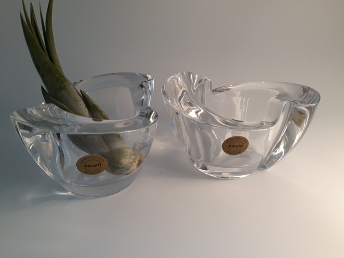 Two European beauties, Lead crystal votive candle holders.