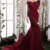 Romantic Acetate Satin Off-the-shoulder Neckline Sheath / Column Evening Dress