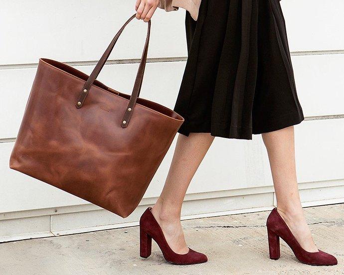 Vintage Leather Tote Bag f802d9c0c803e