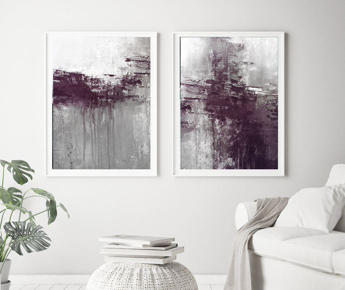 Set of 2 printable painting, instant download pastel abstract painting,