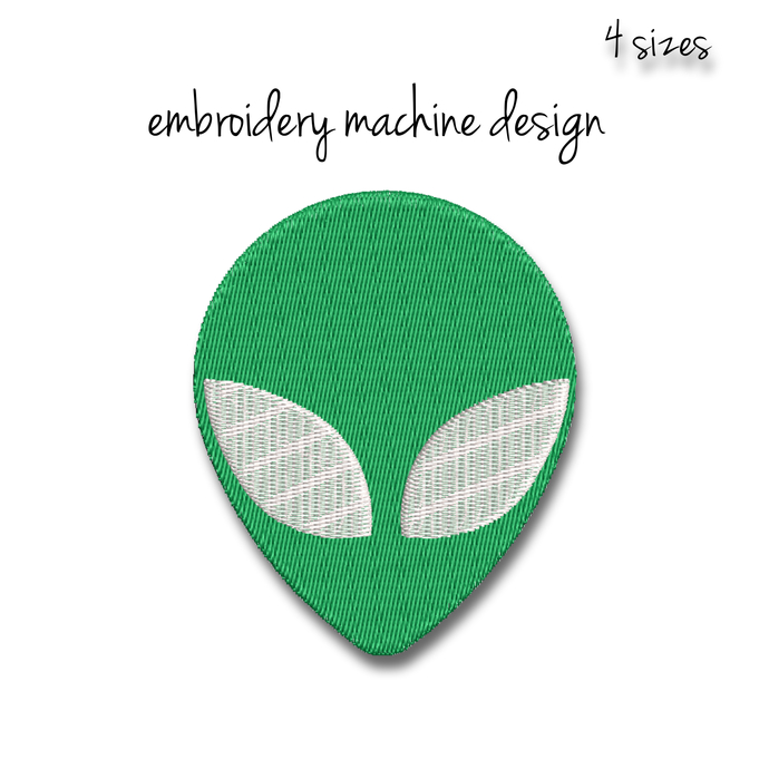 Alien Embroidery Machine Design pes digital instant download pattern hoop file
