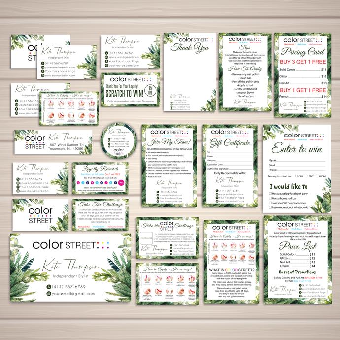 Color Street Marketing Kit, Printable Digital Card, Personalized Color Street