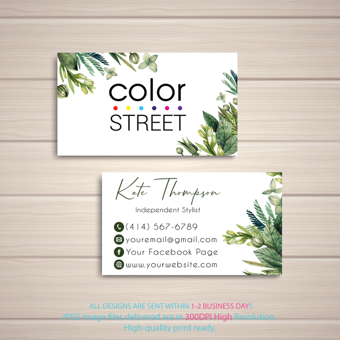 How to Apply Cards, Color Street Application Cards, Color Street Business Cards,