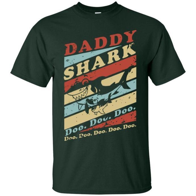 Daddy Shark Doo Doo Retro Men T-shirt