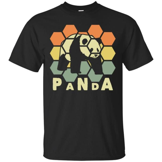Panda Retro, Panda Vintage Men T-shirt