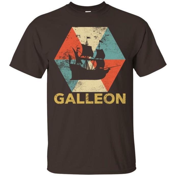 Vintage Polygon Galleon Men T-shirt