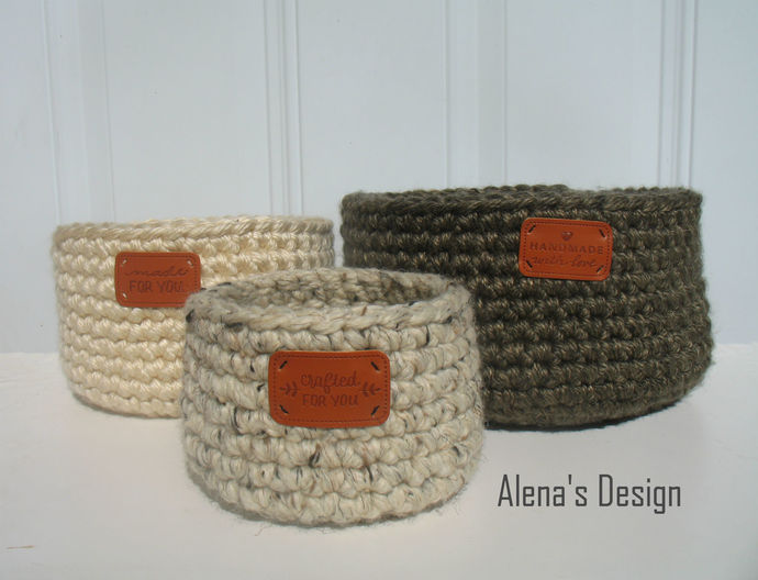 Easy Crocheted Baskets Crochet Pattern Nesting Baskets Crochet Patterns DIY