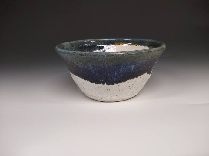 """6"""" bowl white and blue"""