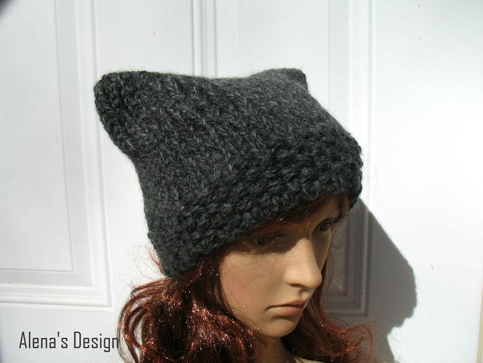 Knitting Pattern 213 Cat Hat Free Knitting Patterns Cat Ears Toddler Child Teen