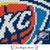 Oklahoma City Thunder Logo crochet blanket pattern; c2c, cross stitch graph; pdf