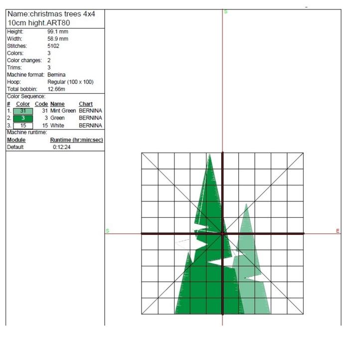 Christmas tree machine embroidery design winter designs pattern instant digital