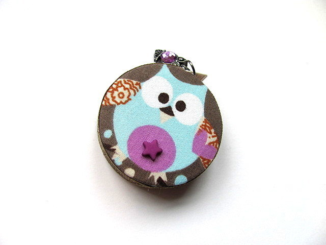 Retractable Measuring Tape Blue Purple Owl Small Tape Measure