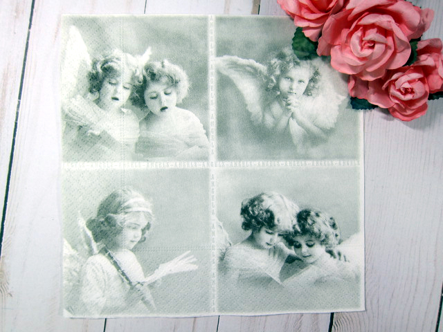 Vintage Children Angels Napkins - 6.5 inch Volume 1