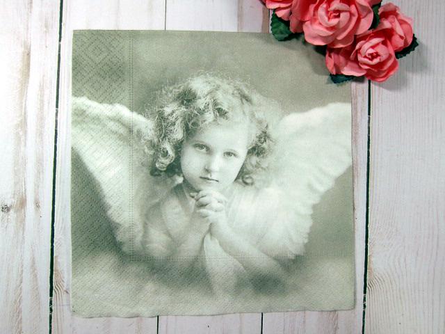 Vintage Children Angels Napkins - 6.5 inch Volume 2