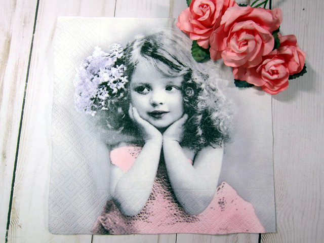 Vintage Children Napkins - 6.5 inch
