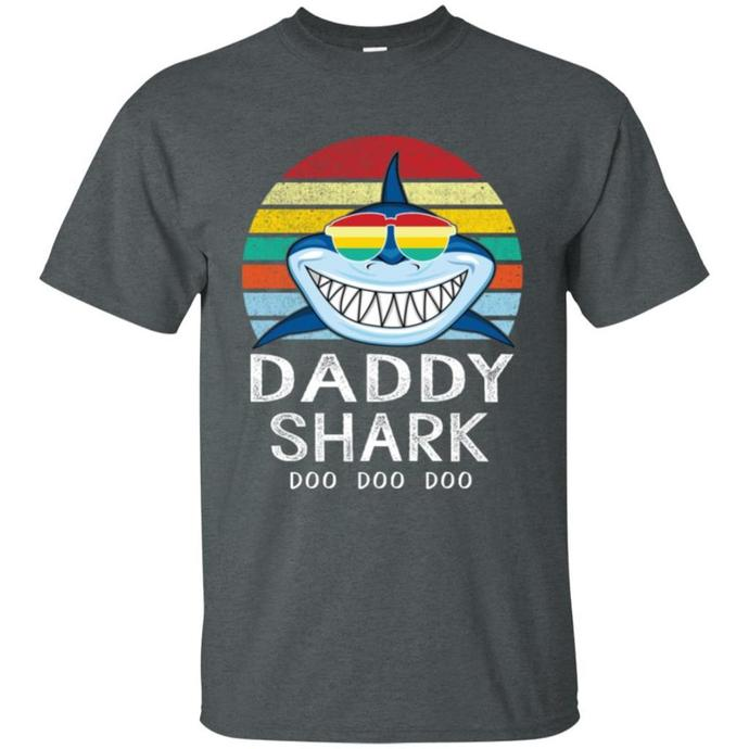 Retro Daddy Shark Men T-shirt, Retro Men T-shirt
