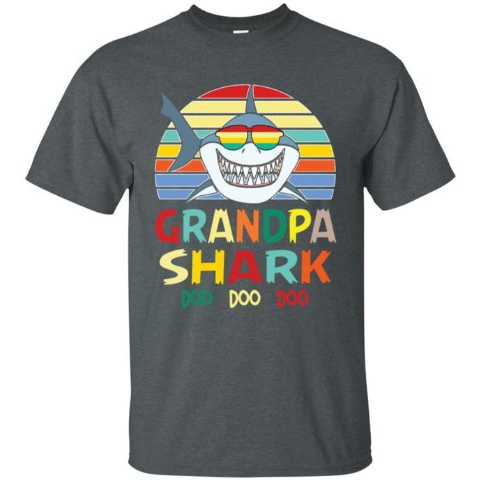 Retro Vintage Grandpa Shark Men T-shirt