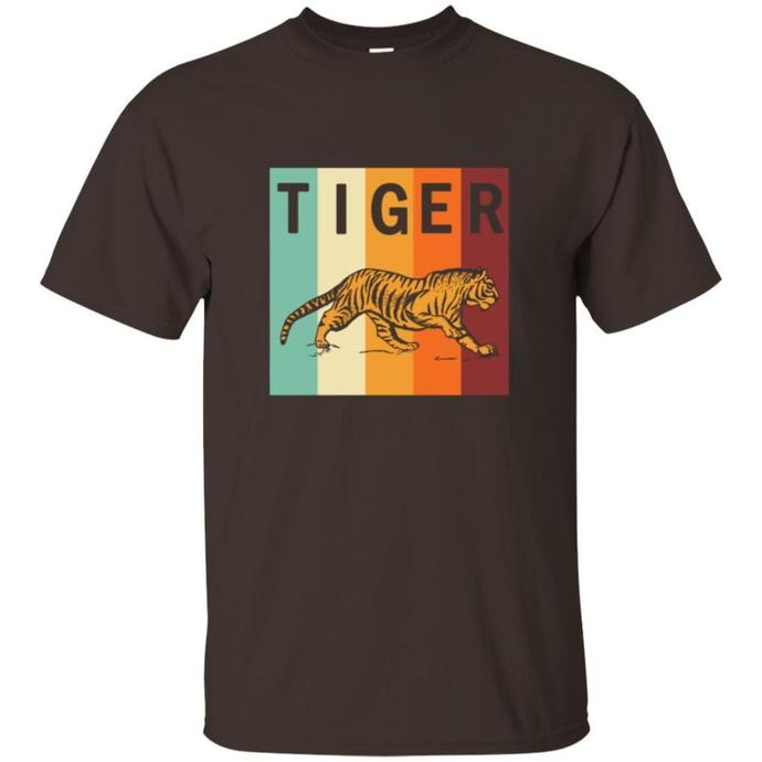 Cool Retro Tiger Men T-shirt, Retro Men T-shirt
