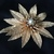 Vintage pin brooch Poinsettia with Pearl and Rhinestones