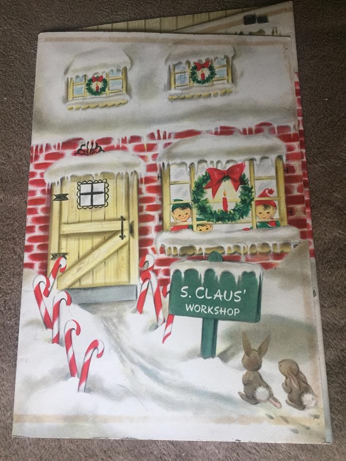 Vintage Hallmark Advent Calendar Santa Claus' Workshop