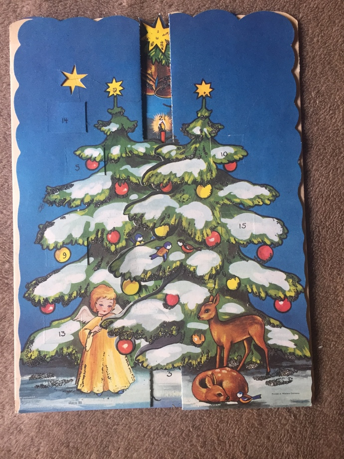 Vintage West German Advent Calendar by Haco 88