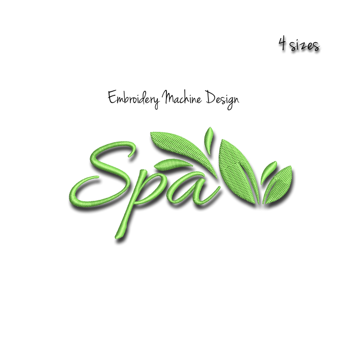 Spa embroidery machine design relax digital instant download pattern hoop pes